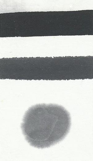 一ツ亀(水墨画用墨)の色見本