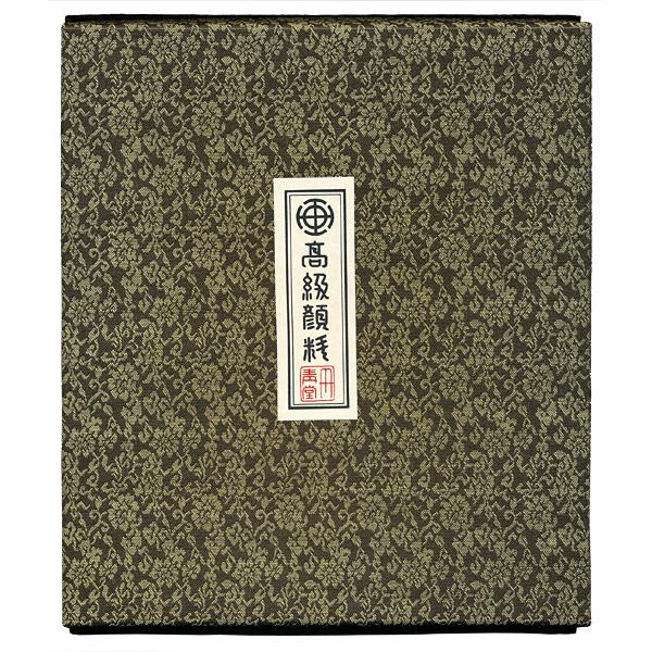 顔彩24色セット(日本画画材・丹青堂製)の箱