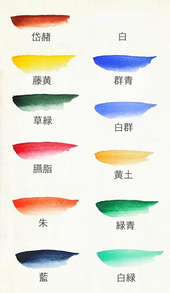 鉄鉢12色セット(彩雲堂製)の色見本
