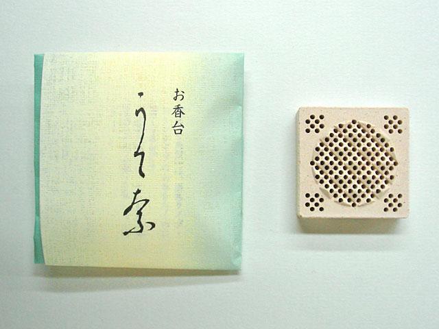お香台(うてな角型)と専用の畳紙(たとうし)の写真